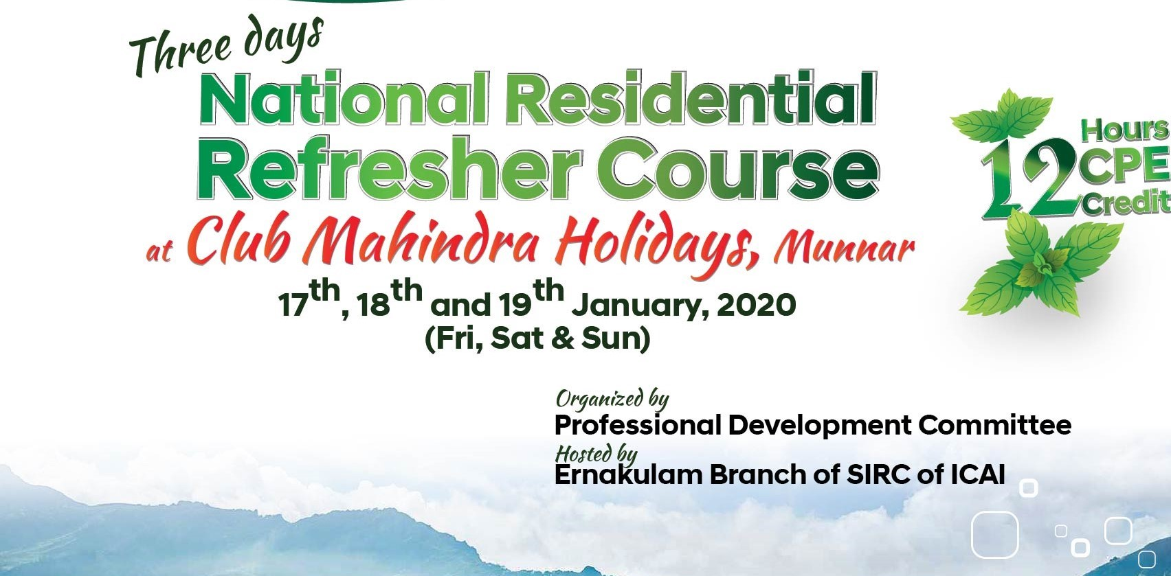 Three Days National Residential Seminar at Munnar