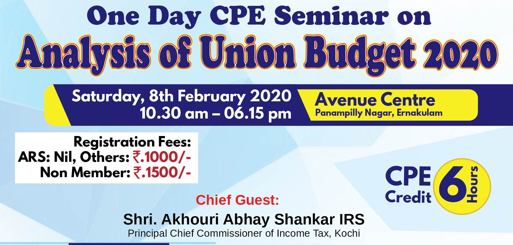 One Day CPE Seminar on Analysis of Union Budget 2020