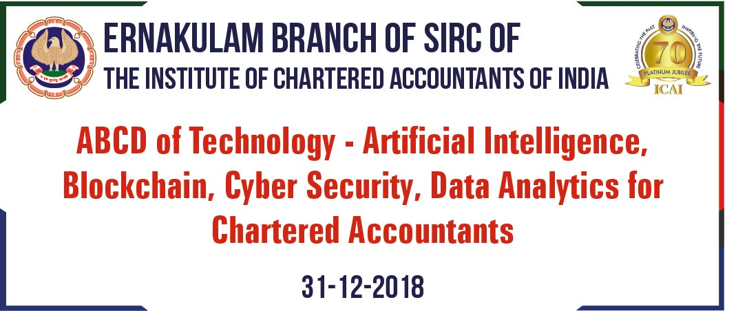 One Day Workshop on ABCD of Technology - Artificial Intelligence, Blockchain, Cyber Security, Data Analytics for Chartered Accountants