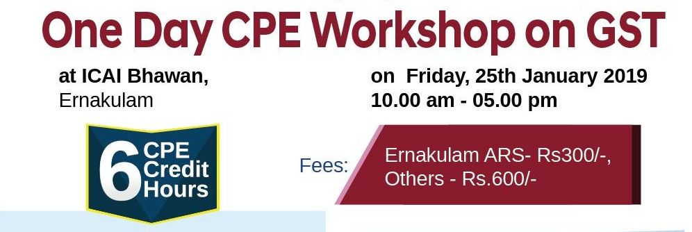 One Day CPE Workshop on GST