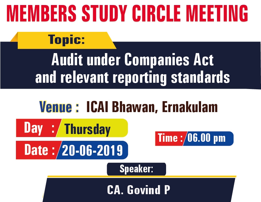 Members Study Circle Meeting on Audit under Companies Act and relevant reporting standards