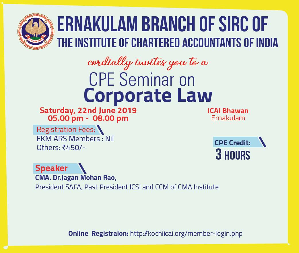 CPE Seminar on Corporate Law