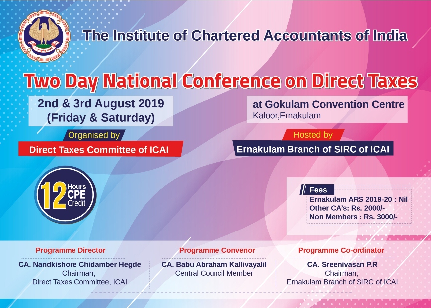 Two Day National Conference on Direct Taxes