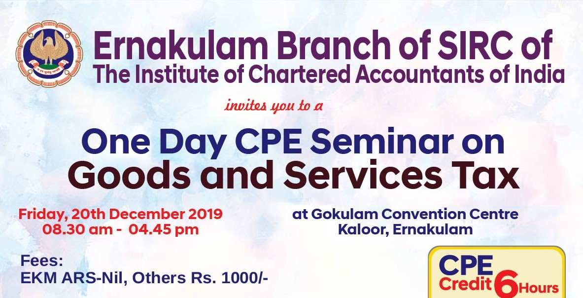 One Day CPE Seminar on Goods and Service Tax