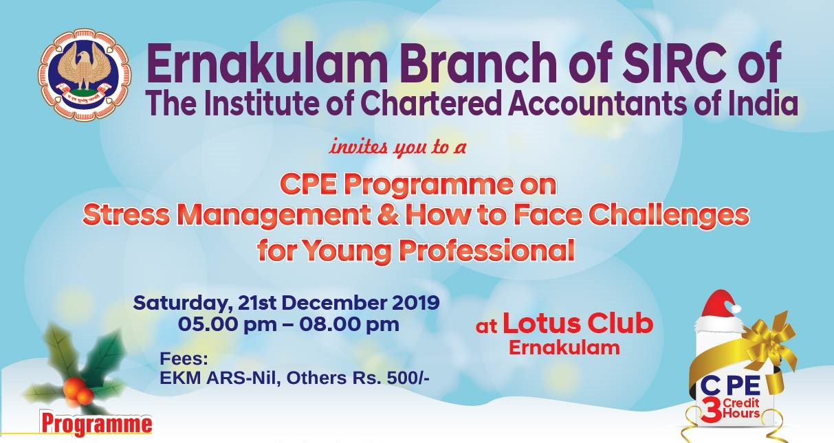 CPE Programme on Stress Management & How to Face Challenges for Young Professional