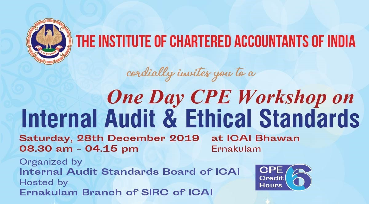 One Day CPE Workshop on Internal Audit & Ethical Standards